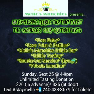 Mello's Munchies presents an Exclusive Edible Tasting Event - September 25 2016