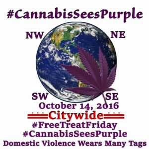 #CannabisSeesPurple Citywide #FreeTreatFriday
