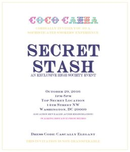 Secret Stash High Society Event Presented by Coco and Canna - October 29 2016