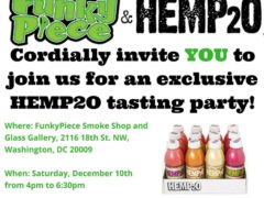 Funky Piece Hemp2o Tasting Party - December 10 2016