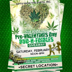 2nd Annual Pre-Valentines Day Bud N Edibles Giveaway - February 11 2017