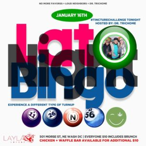 Late Night Bingo - January 16th 2017