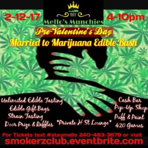 Pre-Valentine's Day Married to Marijuana Edible Bash - February 12 2017