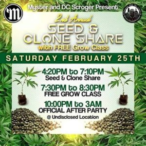 Myster and DC Scroger 2nd Annual Seed and Clone Share - February 25 2017