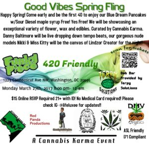 Good Vibes Spring Fling by Cannabis Karma - March 27 2017