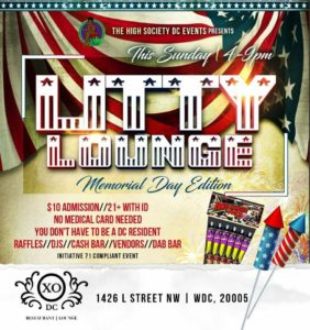 Litty Lounge: Memorial Day Weekend Edition Hosted by High Society DC - May 28 2017