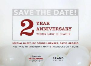 Women Grow: DC Chapter's 2 Year Anniversary Celebration - May 18 2017