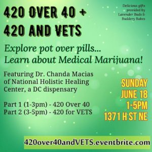 420 Over 40 And 420 For VETS Hosted by Hemp Kettle Tea Company - June 18 2017