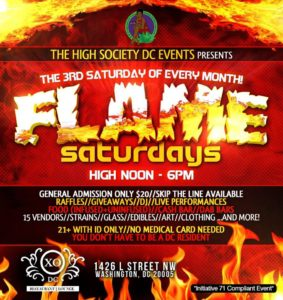 Flame Sundays Hosted by The High Society DC Events - July 16 2017