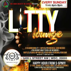 Litty Lounge Flame Edition by The High Society DC Events - June 25 2017