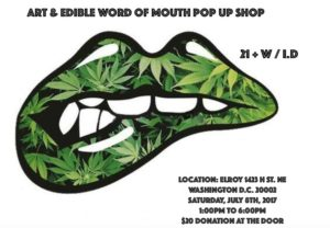 Art & Edible Word of Mouth Pop Up Shop - July 8 2017