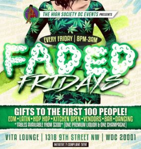 Faded Fridays Hosted by The High Society DC Events - August 18 2017