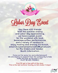 Labor Day Celebration Hosted by DC 's Sweet Sensations - September 3 2017