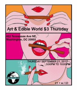 Art & Edible World $3 Thursday - September 21 2017