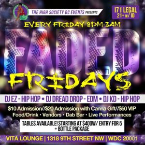 Faded Fridays by The High Society DC Events - September 29 2017