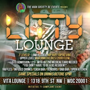 LITTY LOUNGE SUNDAYS Hosted by The High Society DC Events - September 17 2017