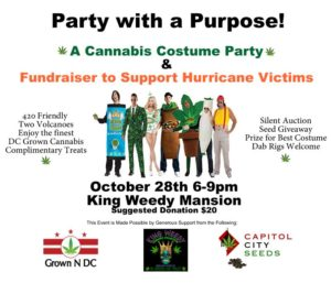 Cannabis Costume Party & Fundraiser Hosted by Grown N DC - October 28 2017