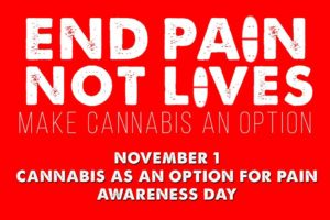 Day of Action for Cannabis As An Option For Pain Awareness Day Hosted by ASA - November 1 2017