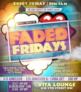 Faded Fridays Hosted by The High Society DC Events - October 13 2017