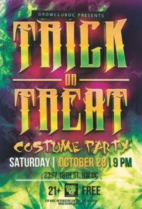 GrowClubDC Presents Trick or Treat Costume Party - October 28 2017