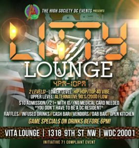 LITTY LOUNGE SUNDAYS Hosted by The High Society DC Events - October 8 2017