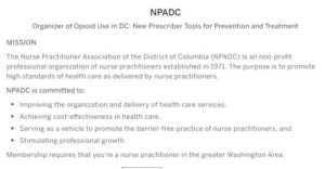 Opioid Use in DC New Prescriber Tools for Prevention and Treatment by NPADC - October 14 2017