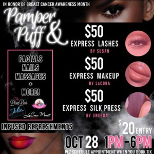 Pamper & Puff Hosted by DC 's Sweet Sensations - October 29 2017