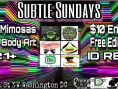 Subtle Sundays Hosted by Smoke Signals Entertainment - October 29 2017