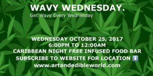 Wavy Wednesday Hosted by Art and Edible Pop Up Shop - October 25 2017