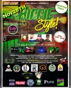 Joint Society Presents HIPPIE STYLE Daytime Party - November 25 2017