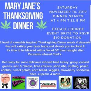 Mary Janes Thanksgiving Dinner - November 18 2017