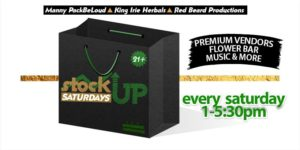 Stock Up Saturdays Hosted by King Irie Herbals - November 4 2017