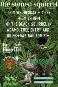 The Stoned Squirrel Hosted by Grass&Co - November 29 2017