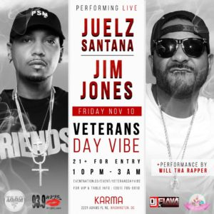 Veterans Day Vibe Hosted by DC 's Sweet Sensations - November 10 2017