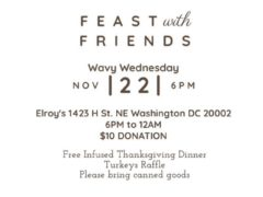 Wavy Wednesday Thanksgiving Special Hosted by Art and Edible World - November 22 2017