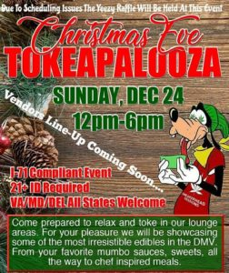Christmas Eve Tokapalooza Hosted By SneakerHead Sessions (DC) December 24 2017