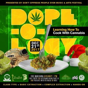 DOPE-O-LOGY: Cooking Class Hosted by DOPE Fest - December 21 2017
