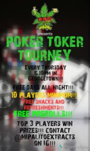 Poker Toker Tourney Hosted by Mangani Caco - December 21 2017