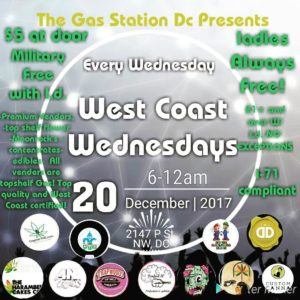 The Gas Station DC Presents West Coast Wednesday's (DC) December 20 2017