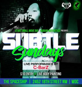 SubtleSundays presented by StartSmallMoveBig & NubianAesthetics (DC)
