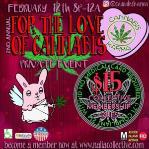 2nd Annual For the Love of Cannabis by Cannabis Karma (DC) February 12 2018