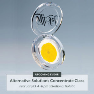 ALTERNATIVE SOLUTIONS CONCENTRATE CLASS By: National Holistic Healing Center (DC) February 13 2018