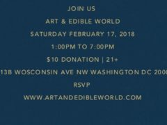 Art and Edible World (DC) February 17 2018