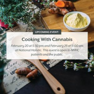 COOKING WITH CANNABIS By National Holistic Healing Center (DC) February 20 2018