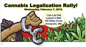 Cannabis Legalization Rally #LegalizeMD by Charm City Cannabis Connoisseurs (MD) February 7 2018