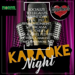 Maryland NORML KARAOKE Night (MD) February 21 2018