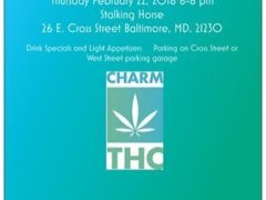 Medical Marijuana Happy Hour hosted by CharmTHC (MD) February 22 2018.