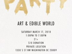 ART & EDIBLE WORLD (DC) March 18 2017
