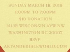 ART & EDIBLE WORLD SUNDAY FUNDAY (DC) March 18 2018