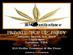 Bombahzee Vapes Private Pop Up Party (DC) Maarch 3 2018